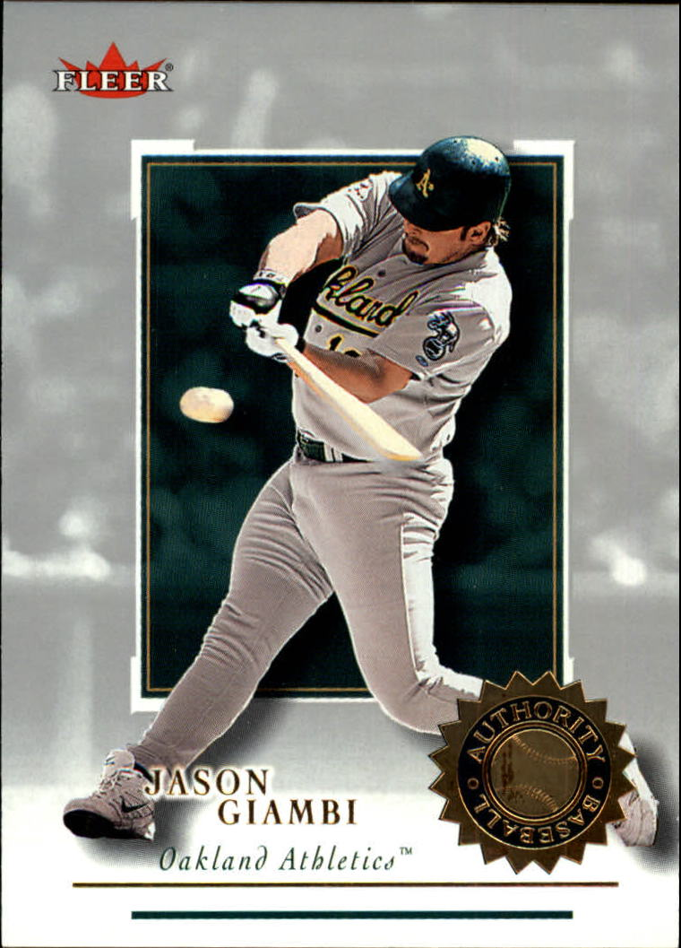 2001 Fleer Authority #75 Jason Giambi