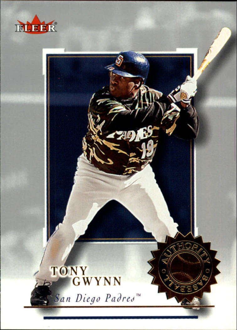 2001 Fleer Authority #79 Tony Gwynn