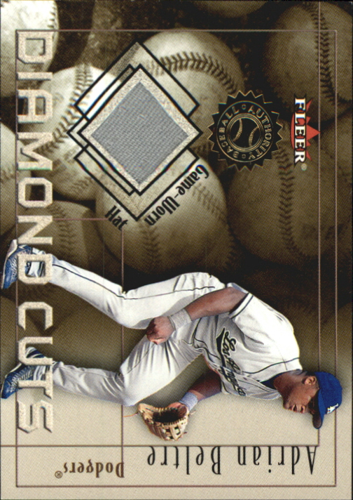 2001 Fleer Authority Diamond Cuts Memorabilia #3 Adrian Beltre Hat/240