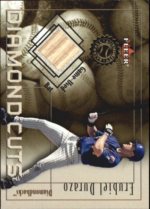 2001 Fleer Authority Diamond Cuts Memorabilia #16 Erubiel Durazo Bat/800