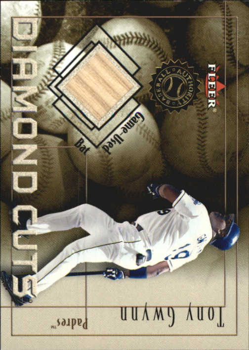 2001 Fleer Authority Diamond Cuts Memorabilia #31 Tony Gwynn Bat/975
