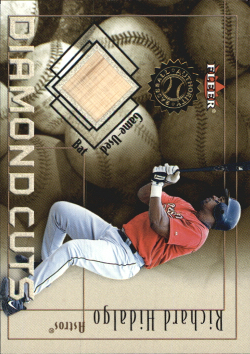 2001 Fleer Authority Diamond Cuts Memorabilia #39 Richard Hidalgo Bat/800