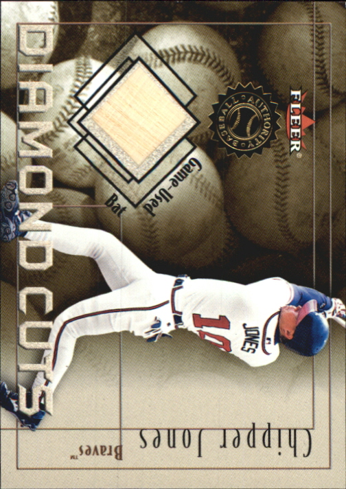 2001 Fleer Authority Diamond Cuts Memorabilia #47 Chipper Jones Bat/800