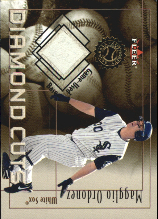 2001 Fleer Authority Diamond Cuts Memorabilia #65 Magglio Ordonez Base/250