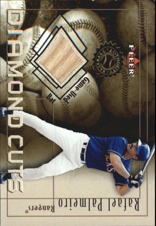 2001 Fleer Authority Diamond Cuts Memorabilia #70 Rafael Palmeiro Bat/800