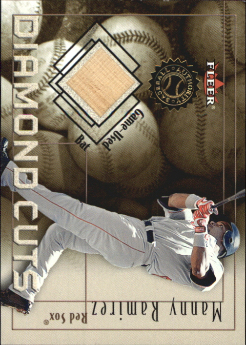 2001 Fleer Authority Diamond Cuts Memorabilia #78 Manny Ramirez Sox Bat/800