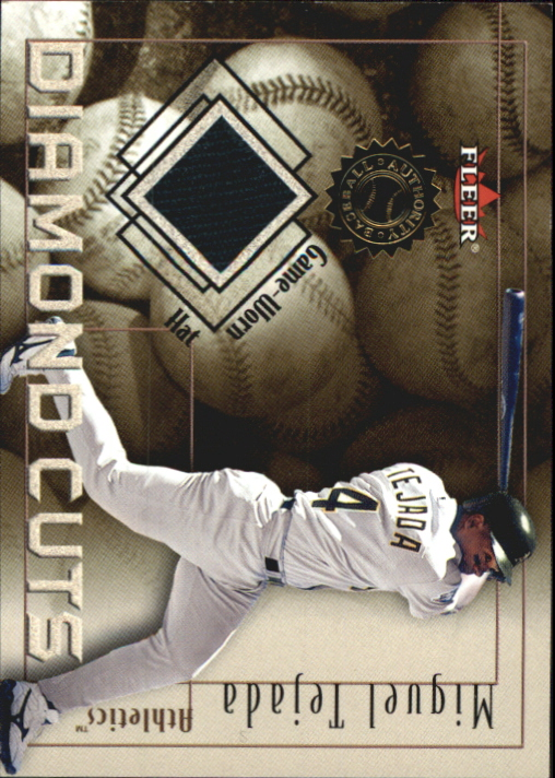 2001 Fleer Authority Diamond Cuts Memorabilia #103 Miguel Tejada Hat/240