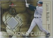2001 Fleer Authority Diamond Cuts Memorabilia #110 Larry Walker Jsy/1000
