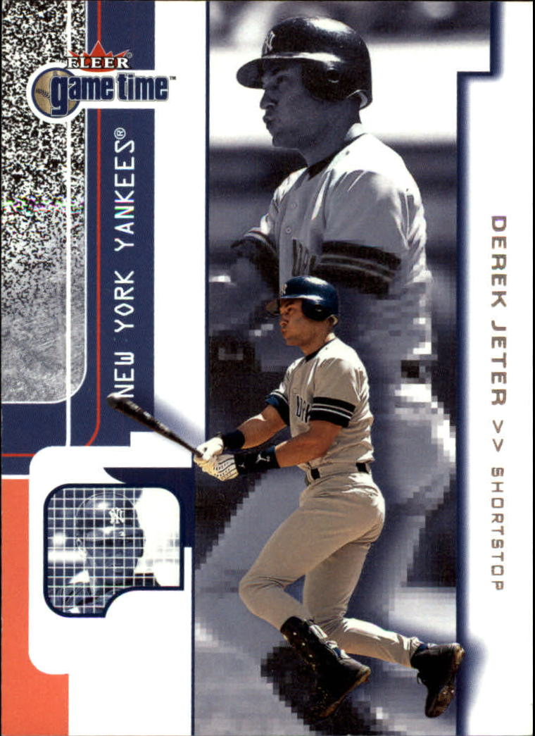 2001 Fleer Game Time #1 Derek Jeter