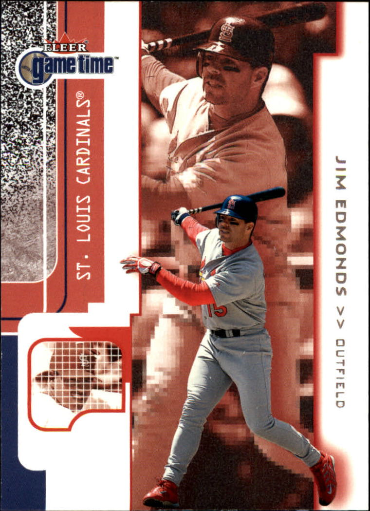 2001 Fleer Game Time #76 Jim Edmonds