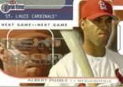 2001 Fleer Game Time #121 Albert Pujols NG RC