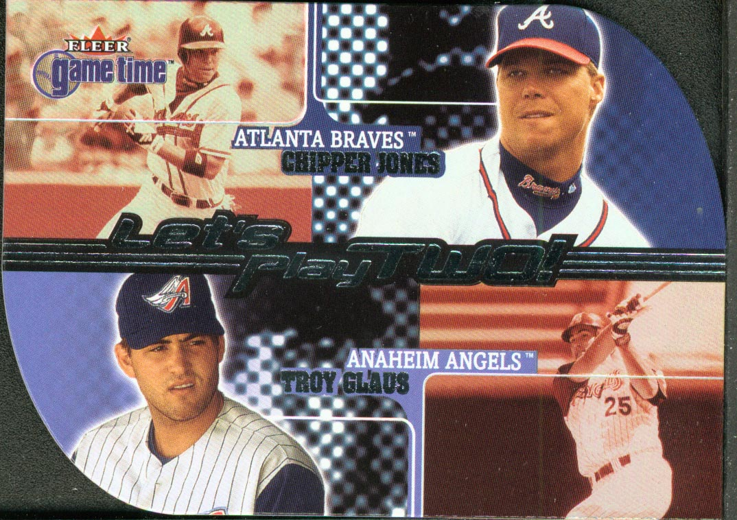 2001 Fleer Game Time Let's Play Two #LT7 C.Jones/T.Glaus