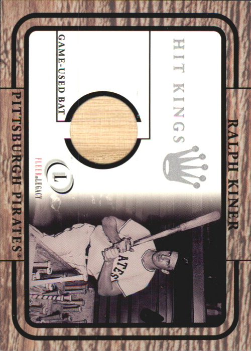 2001 Fleer Legacy Hit Kings #18 Ralph Kiner