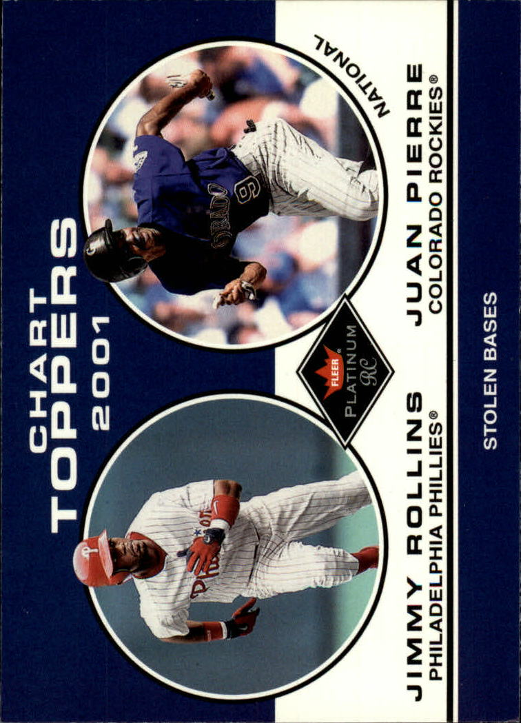 2001 Fleer Platinum #428 J.Rollins/J.Pierre CT