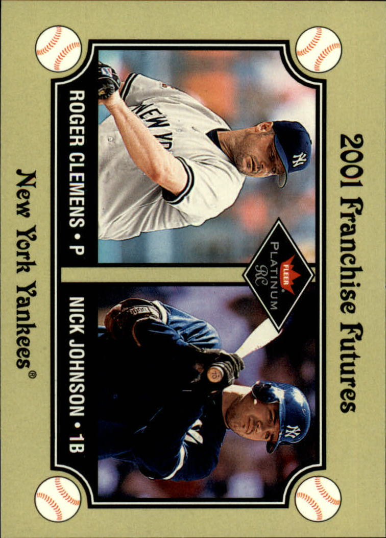 2001 Fleer Platinum #470 R.Clemens/N.Johnson FF