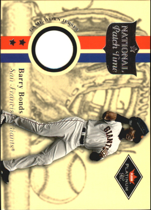 2001 Fleer Platinum National Patch Time #6 Barry Bonds S2