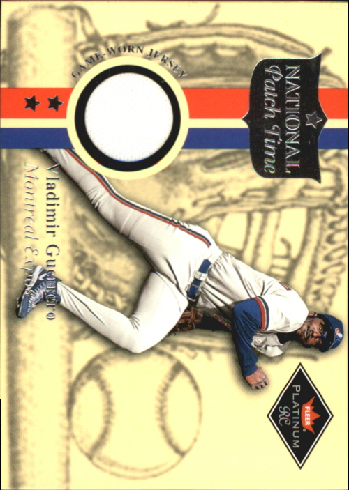 2001 Fleer Platinum National Patch Time #23 Vladimir Guerrero S2