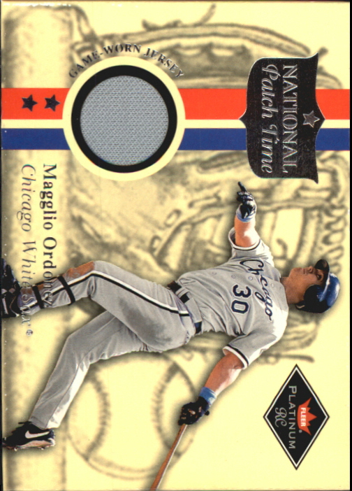 2001 Fleer Platinum National Patch Time #41 Magglio Ordonez Gray SP S2