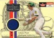 2001 Fleer Platinum National Patch Time #42 Adam Piatt S1