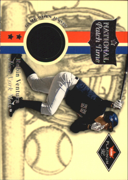 2001 Fleer Platinum National Patch Time #61 Robin Ventura S2