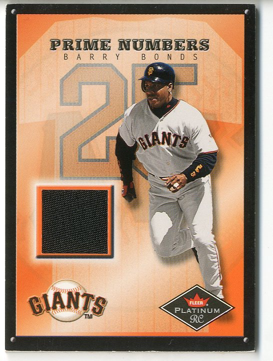 2001 Fleer Platinum Prime Numbers #3 Barry Bonds