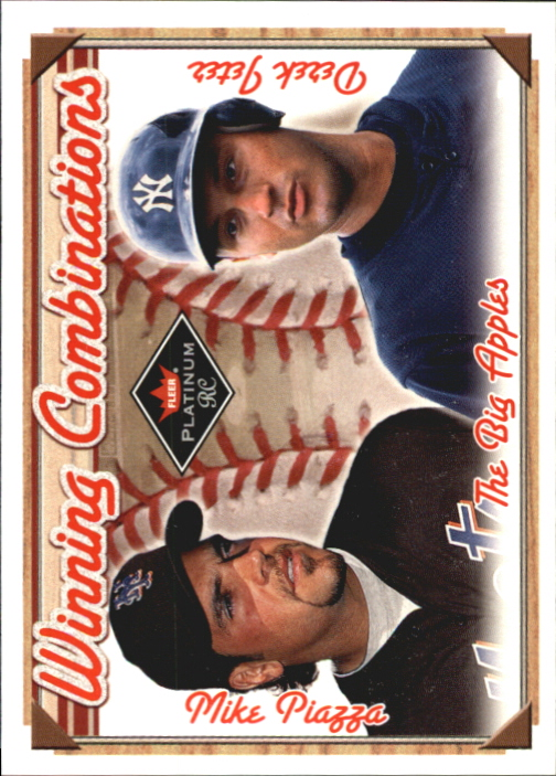 2001 Fleer Platinum Winning Combinations #6 M.Piazza/D.Jeter/500