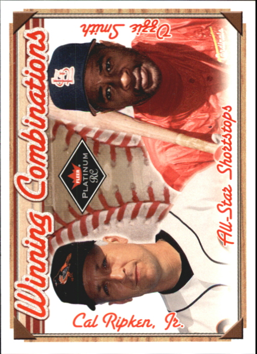 2001 Fleer Platinum Winning Combinations #9 C.Ripken/O.Smith/1000