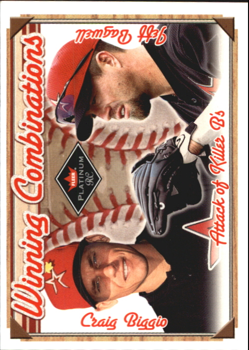 2001 Fleer Platinum Winning Combinations #11 J.Bagwell/C.Biggio/1000