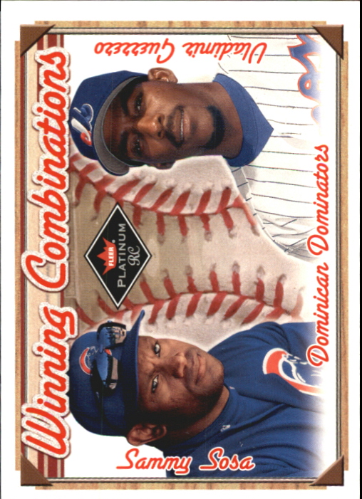 2001 Fleer Platinum Winning Combinations #19 V.Guerrero/S.Sosa/2000