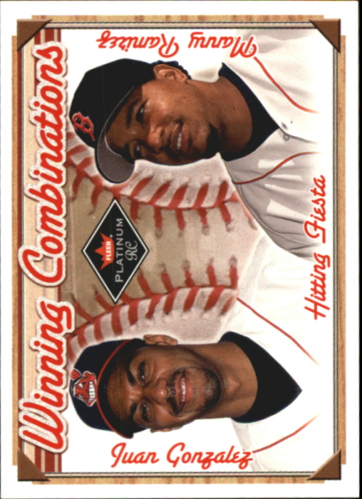 2001 Fleer Platinum Winning Combinations #22 J.Gonzalez/M.Ramirez Sox/2000