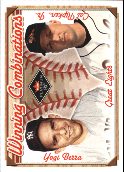 2001 Fleer Platinum Winning Combinations #28 Y.Berra/C.Ripken/2000 front image