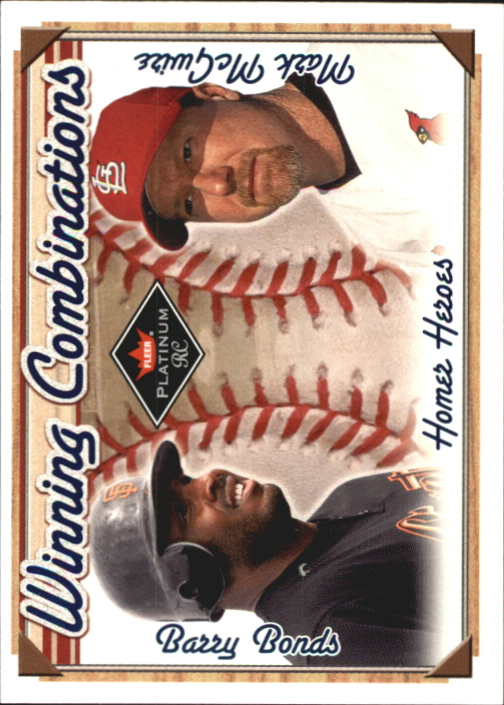 2001 Fleer Platinum Winning Combinations Blue #2 B.Bonds/M.McGwire