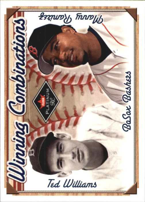 2001 Fleer Platinum Winning Combinations Blue #4 T.Williams/M.Ramirez Sox