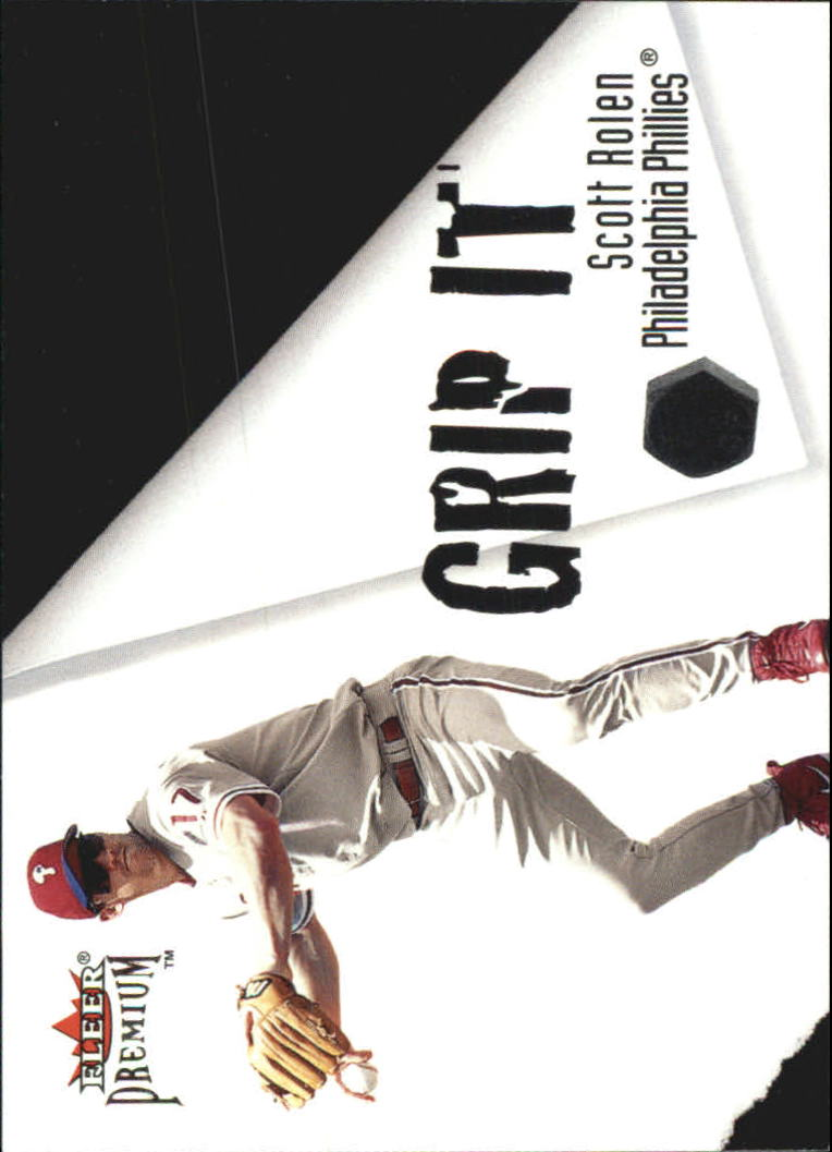 2001 Fleer Premium Grip It and Rip It #GRP2 S.Rolen/P.Burrell