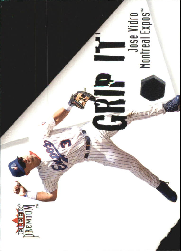 2001 Fleer Premium Grip It and Rip It #GRP8 J.Vidro/V.Guerrero