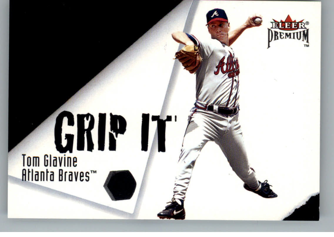 2001 Fleer Premium Grip It and Rip It #GRP10 T.Glavine/C.Jones