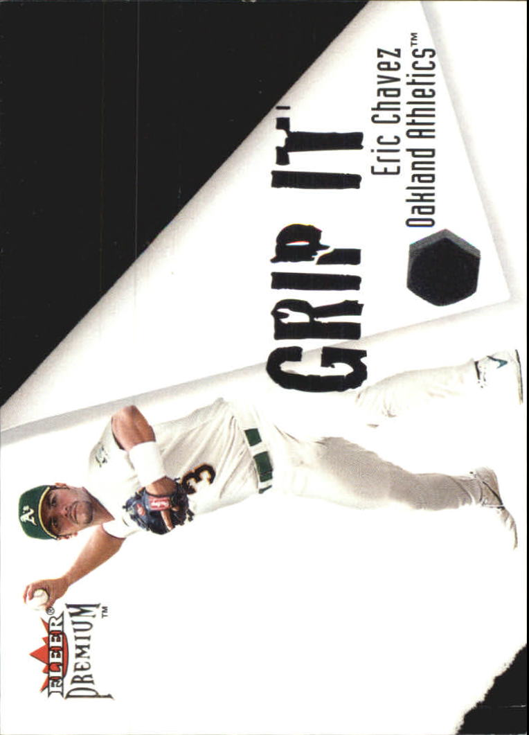 2001 Fleer Premium Grip It and Rip It #GRP15 E.Chavez/J.Giambi