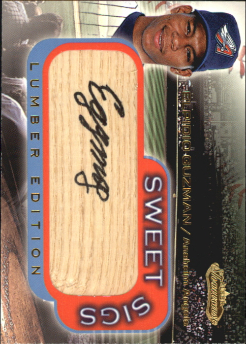 2001 Fleer Showcase Sweet Sigs Lumber #11 Elpidio Guzman