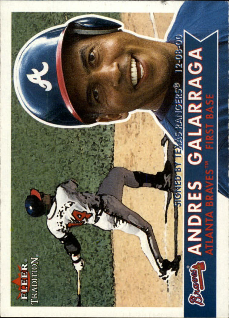 2001 Fleer Tradition #1 Andres Galarraga