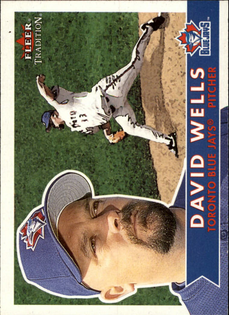 2001 Fleer Tradition #15 David Wells front image