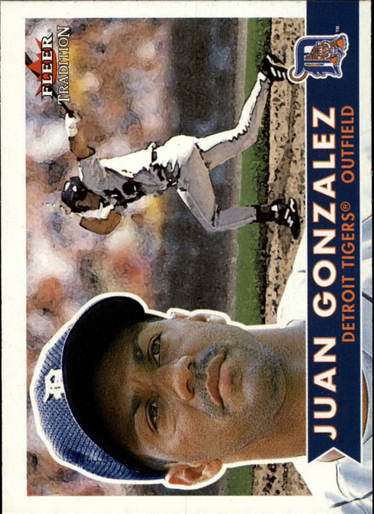 2001 Fleer Tradition #50 Juan Gonzalez