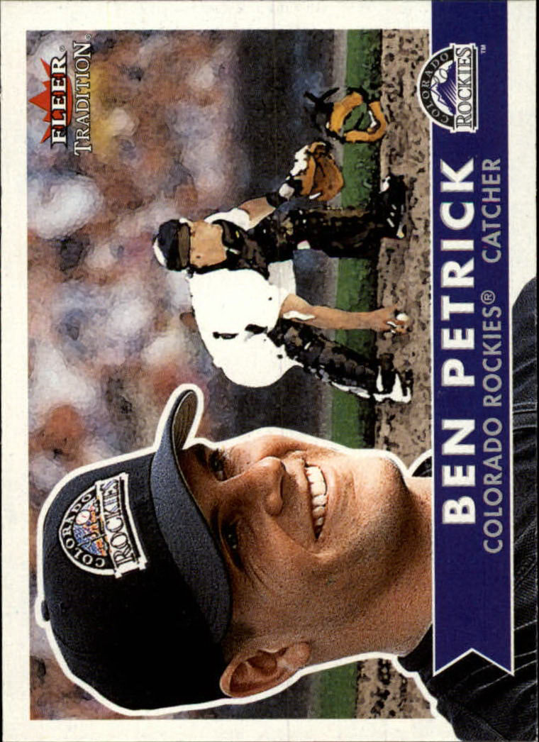 2001 Fleer Tradition #65 Ben Petrick