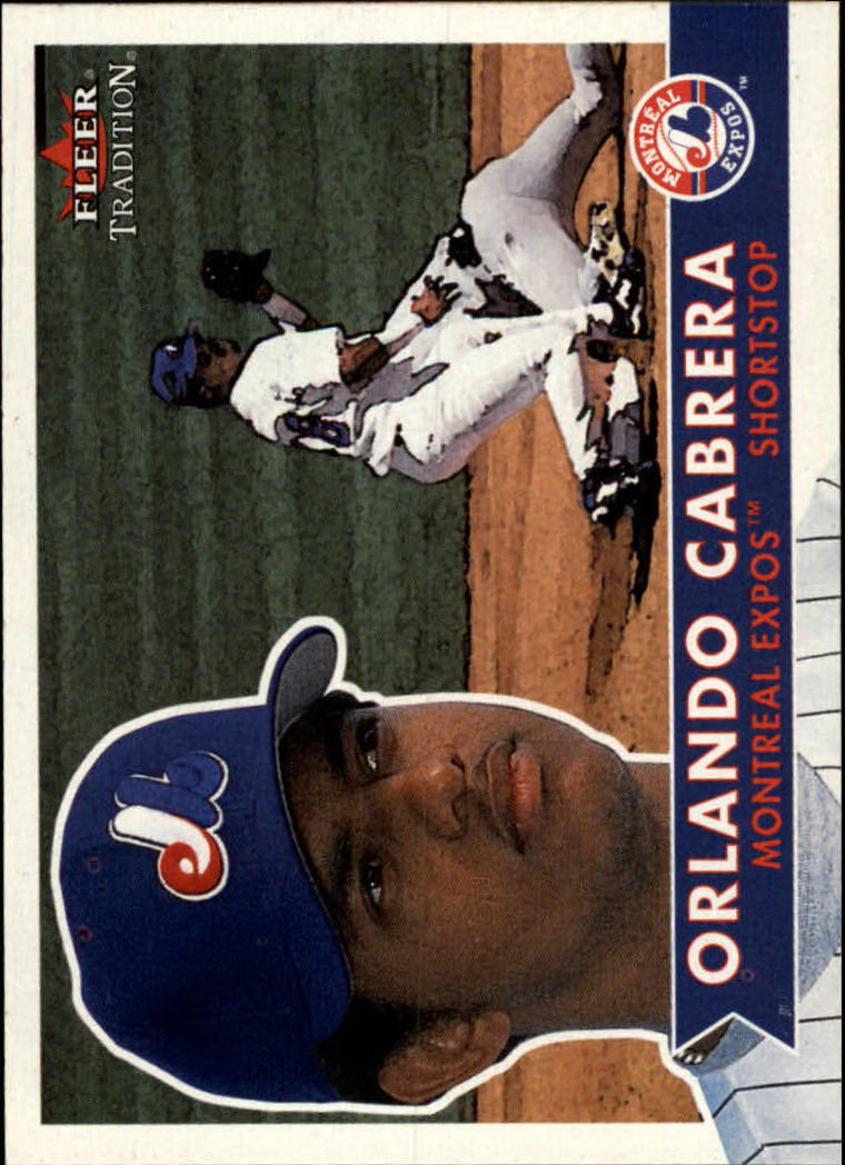 2001 Fleer Tradition #66 Orlando Cabrera