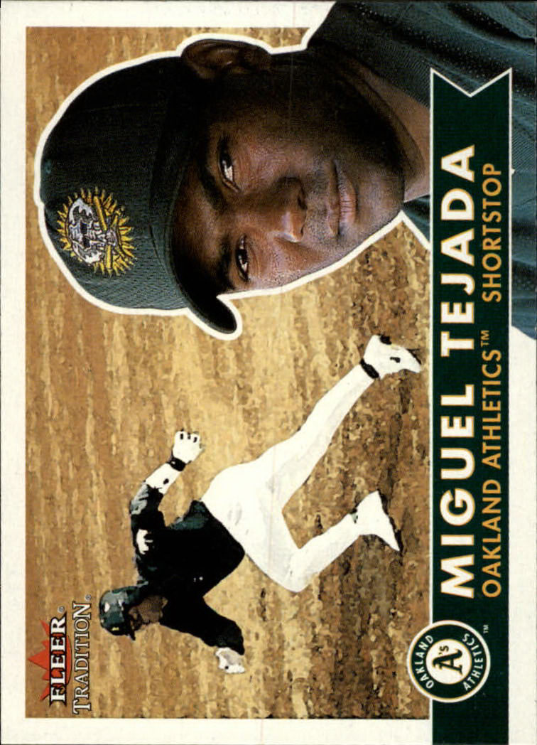 2001 Fleer Tradition #76 Miguel Tejada