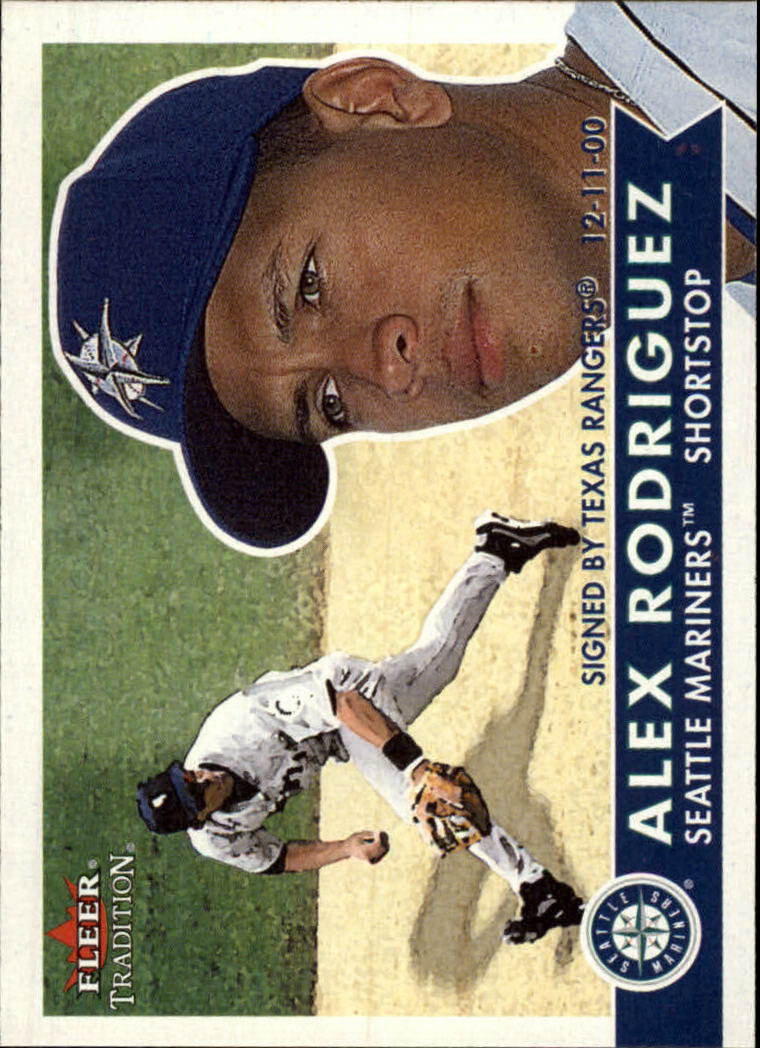 2001 Fleer Tradition #84 Alex Rodriguez