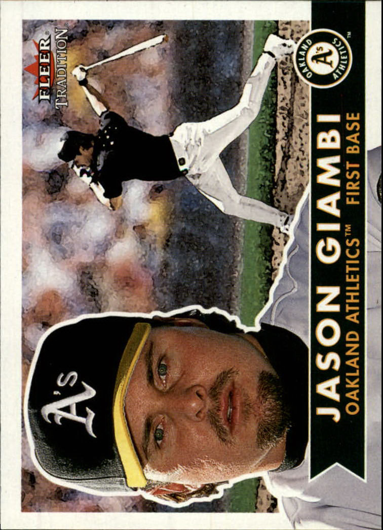 2001 Fleer Tradition #155 Jason Giambi