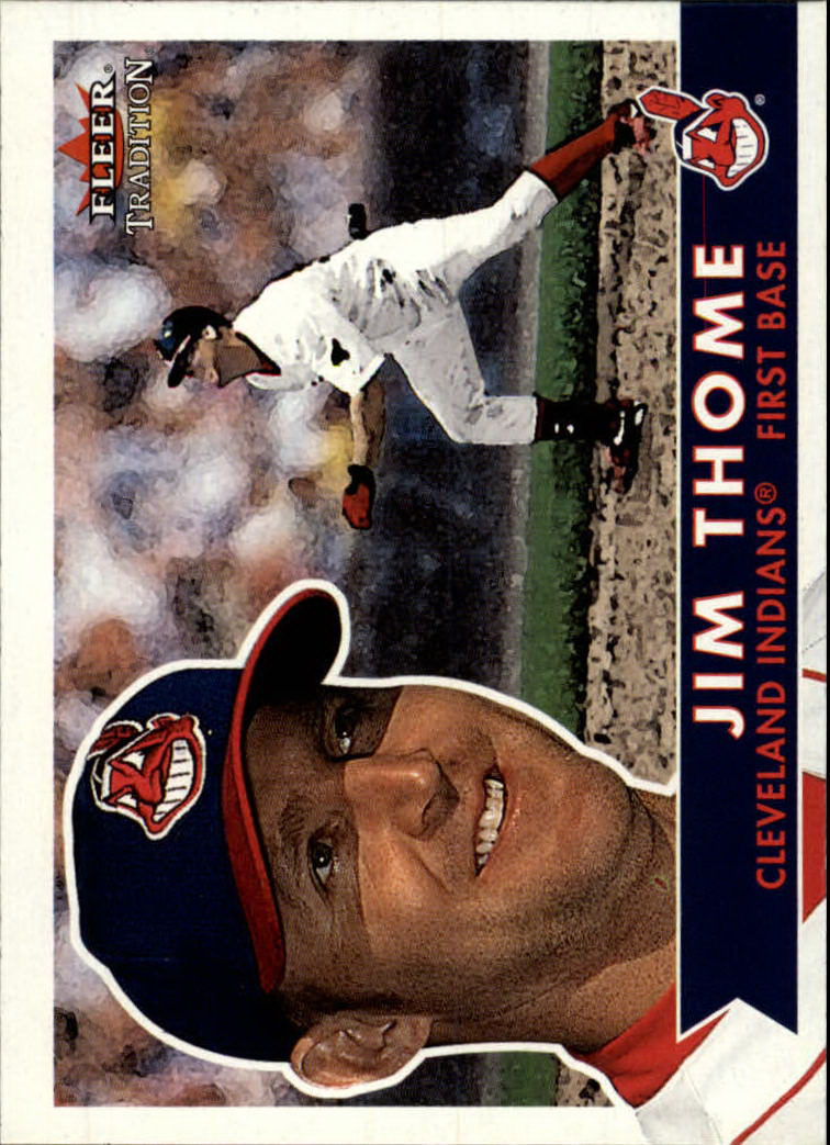 2001 Fleer Tradition #162 Jim Thome front image