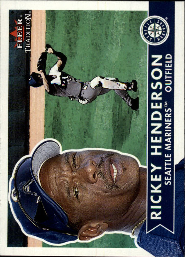 2001 Fleer Tradition #201 Rickey Henderson