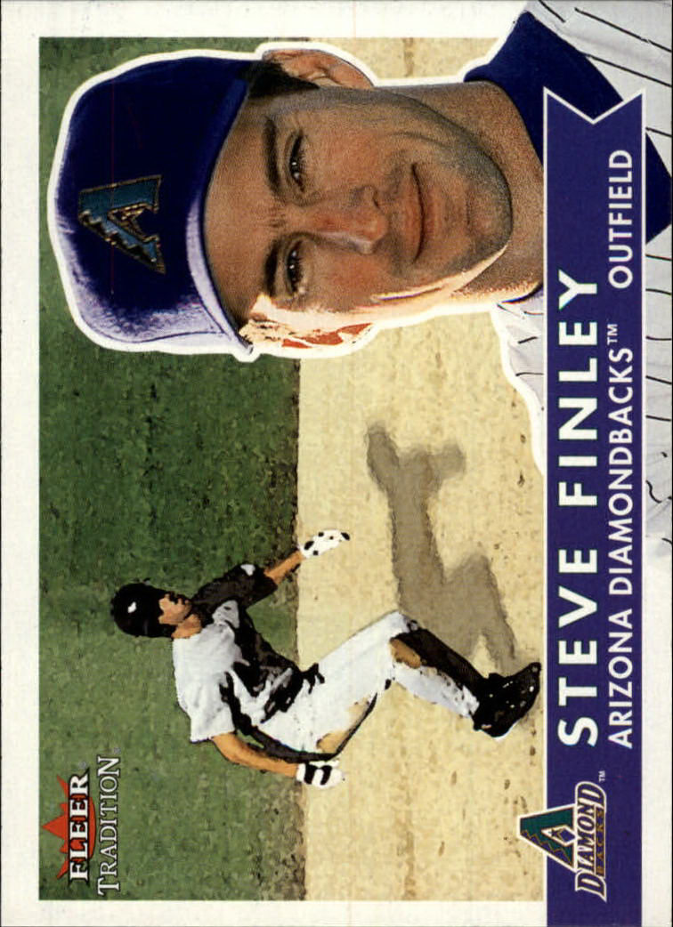 2001 Fleer Tradition #204 Steve Finley