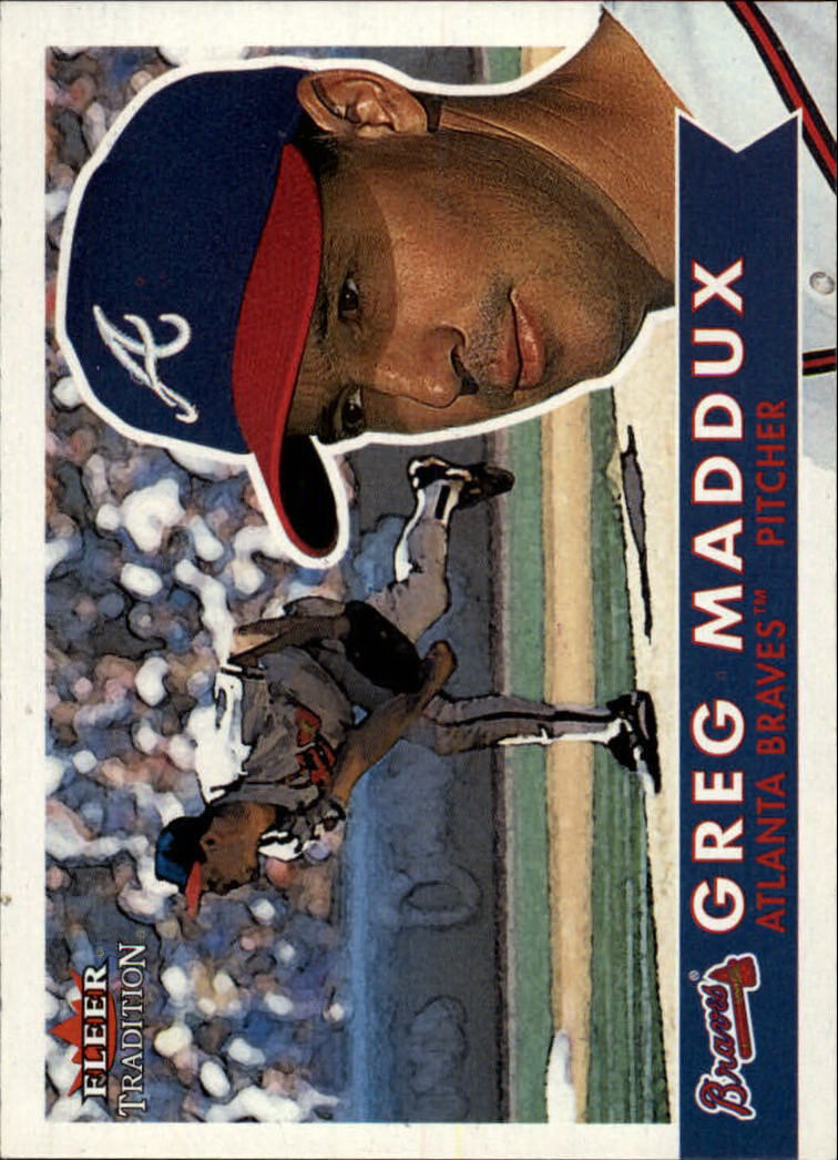 2001 Fleer Tradition #210 Greg Maddux front image